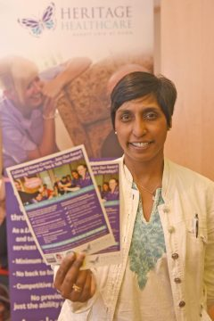 Romola Ganguli from Heritage Healthcare - Carers week launch night at the Copthorne Hotel hosted by Slough Carers Support - Photo: Emma Sheppard - 13/06/17