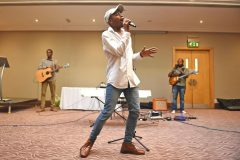 Performance by Nate Simpson - Carers week launch night at the Copthorne Hotel hosted by Slough Carers Support - Photo: Emma Sheppard - 13/06/17