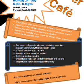 Carers Cafe – 24th July 6pm to 8pm